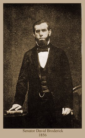 PHOTO OF DAVID BRODERICK CIRCA 1856
