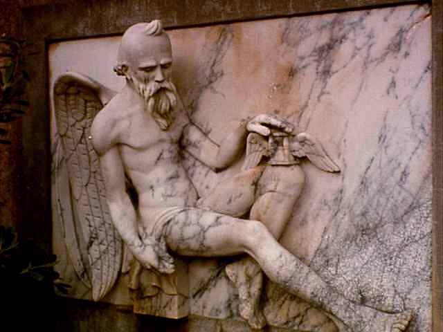 PICTURE OF FATHER TIME FROM THE LAUREL HILL MONUMENT